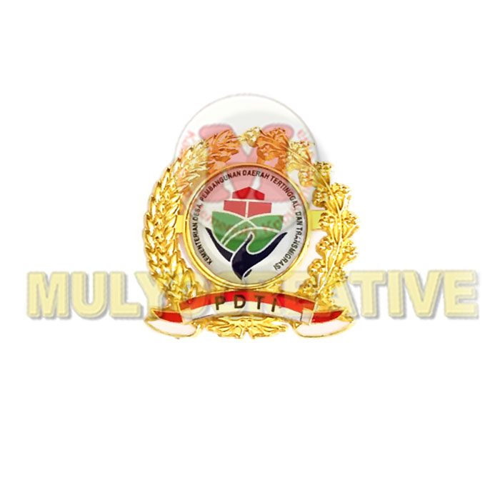 Beli Pin Logo Kementerian Desa PDTI Motif Padi Dan Kapas Harga Murah