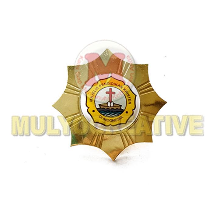 Pesan Pin Logo Majelis Pendidikan Kristen di Indonesia Model Bintang – Lencana Bross MPK Harga Murah