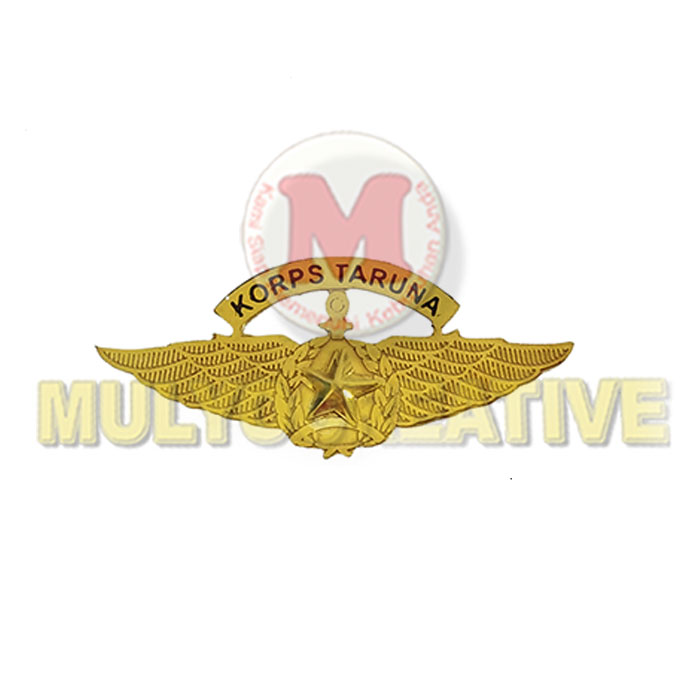 Tempah Lencana Wing Custom Bahan Logam – Wing Brevet Korps Taruna Harga Murah