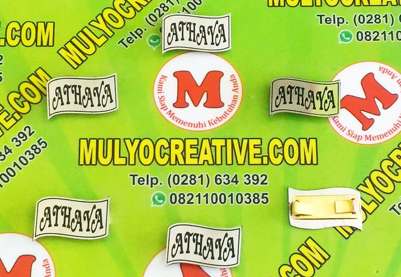 Label Brand Tas Athaya bahan: logam stainless warna: hitam