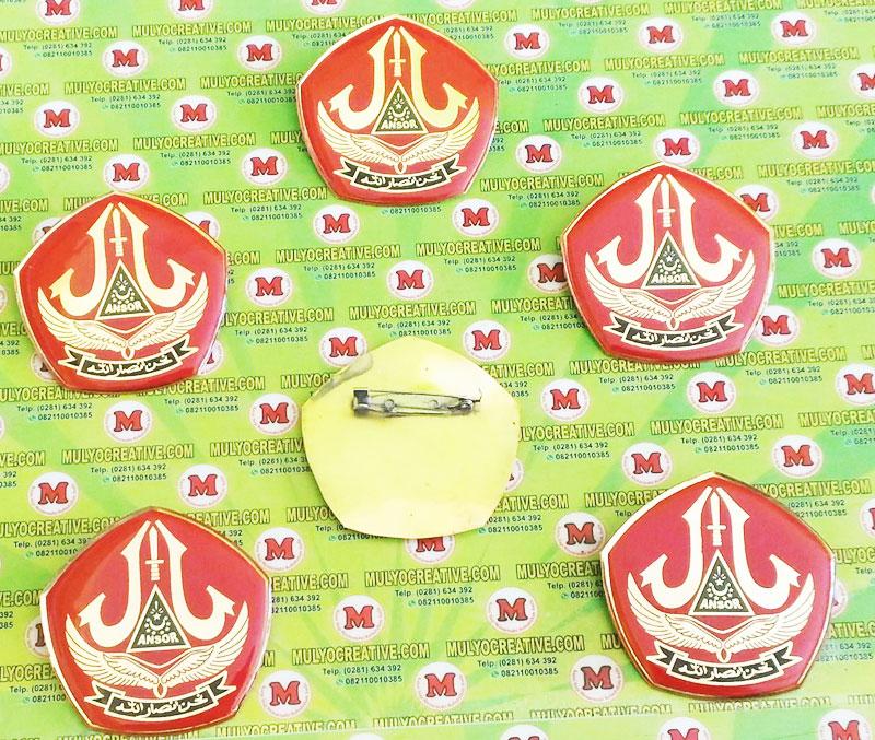 Lencana Emblem dengan logo Banser. Ukuran Kecil. panjang 6 cm