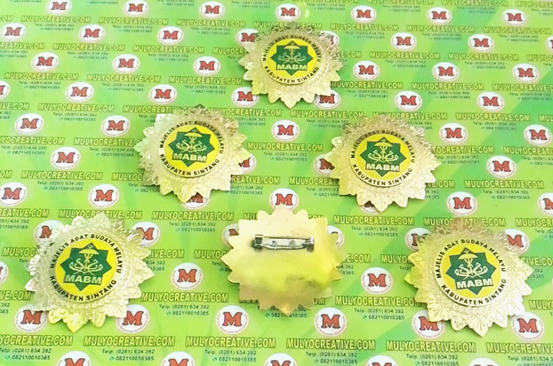 Jual Lencana Pin Emblem Logo Majelis Adat Budaya Melayu
