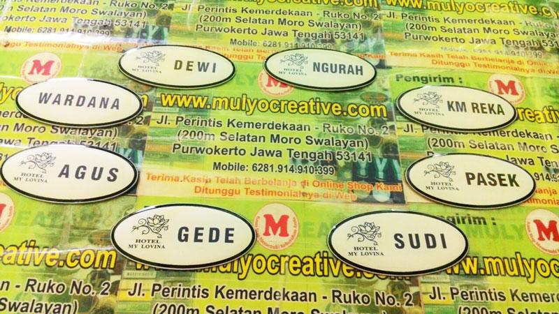 Name Tag Model Bulat