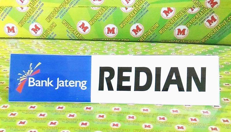 Papan Nama Meja Acrylic Bank Jateng
