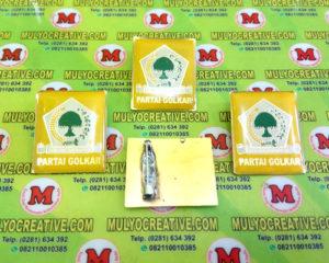 Pin Golkar/ Partai Golongan Karya terbuat dari logam kuninganOrder dan Pesan sekarang juga di Mulyo Creative