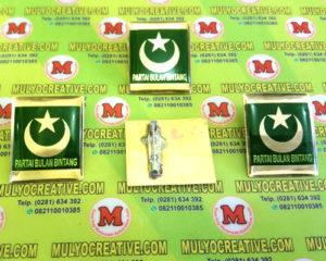 Pin PBB, Lencana Pin Partai Bulan Bintang, Order dan Pesan sekarang juga di Mulyo Creative