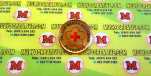 Pin Logo PMI dengan bentuk bulat