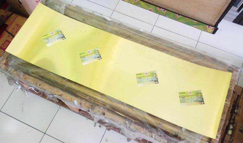 Plat Kuningan Lembaran Tebal 0,6 Ukuran 120 x 36,5cm