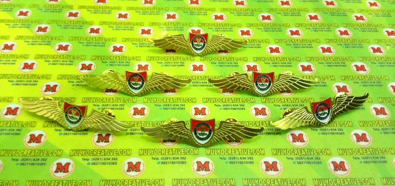 Wing Bela Negara, Brevet Wing Forum Bela Negara terbuat dari logam kuningan